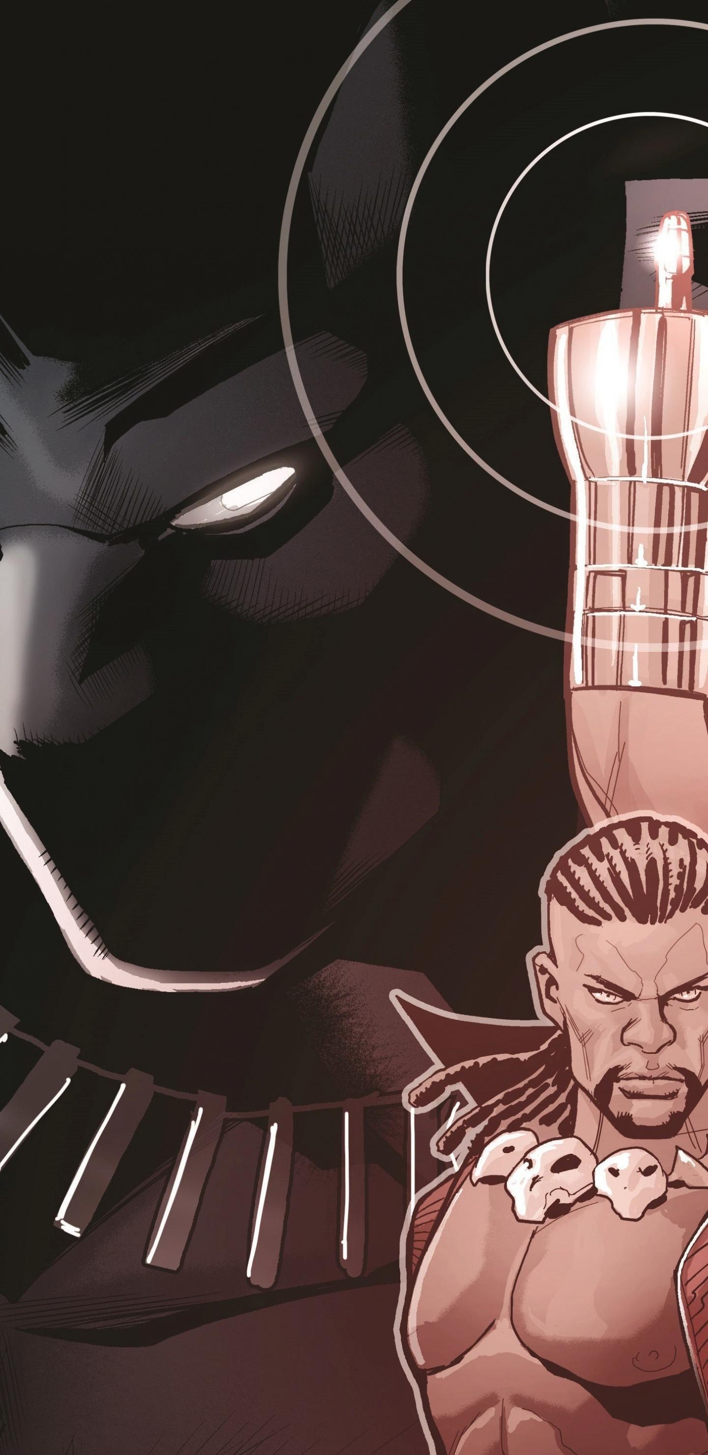 Black panther, superhero, comics, 1440x2960 wallpaper