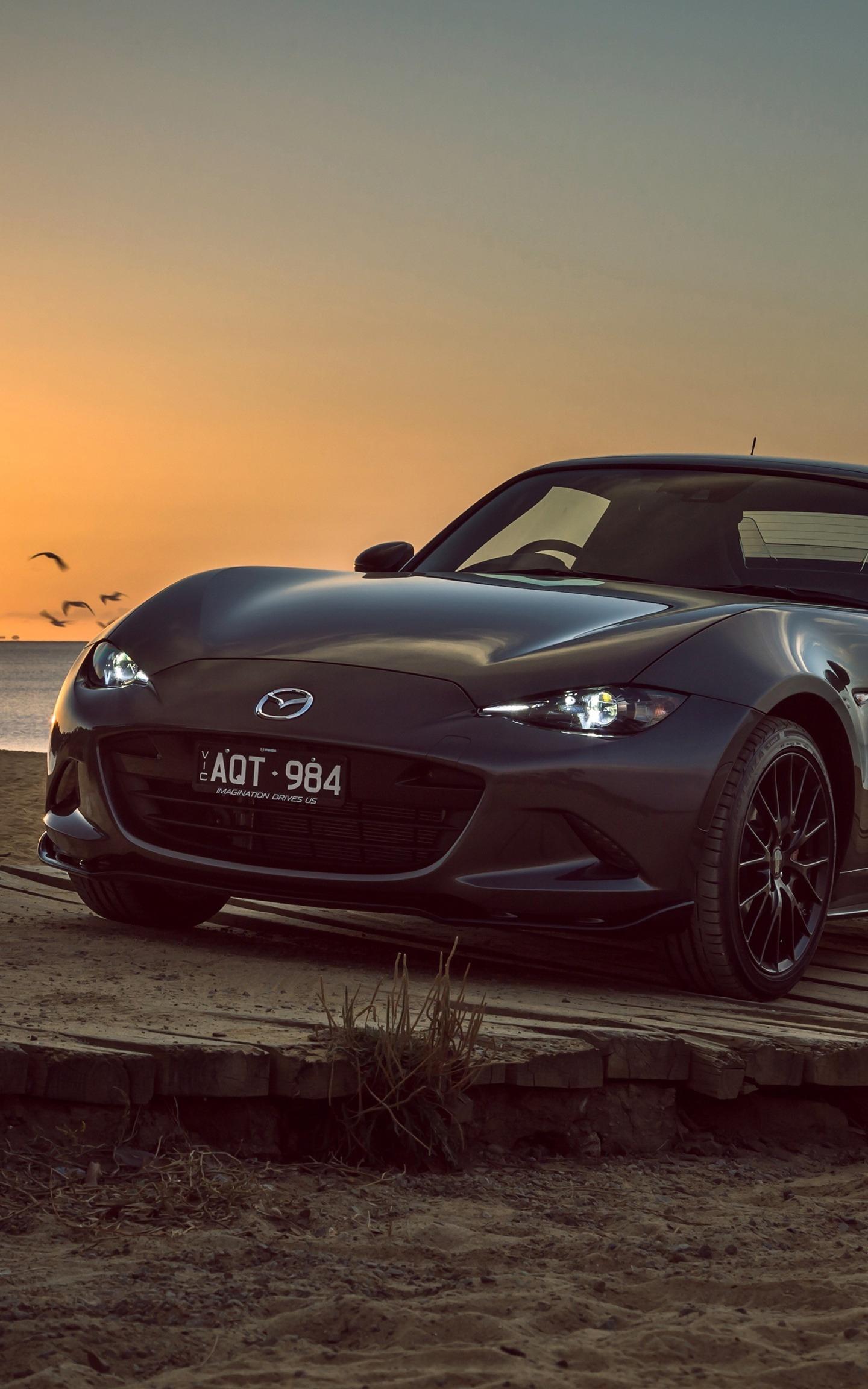 Bon Download 1440x2960 Wallpaper Mazda Mx 5, Sports Car, Black, Sunset,  Samsung