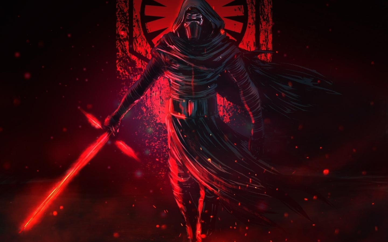 Download 1440x900 Wallpaper Artwork Star Wars Villain Kylo Ren Widescreen 16 10 Widescreen 1440x900 Hd Image Background 15783