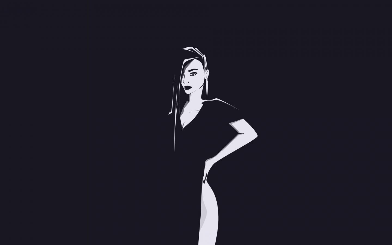 Minimal, urban woman, art, 1440x900 wallpaper