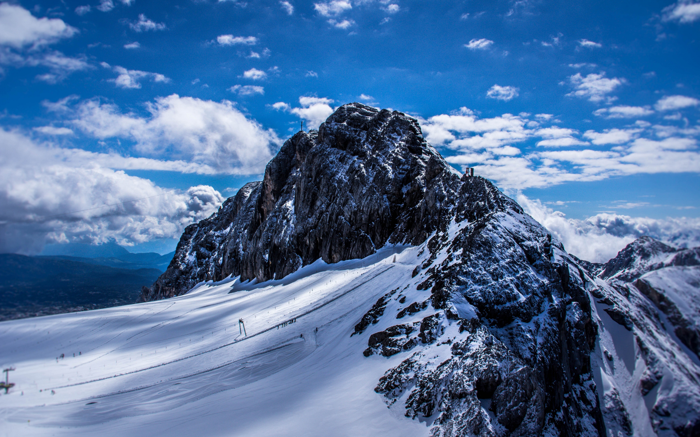Download 1440x900 Wallpaper Swiss Mountains Winter Sunny