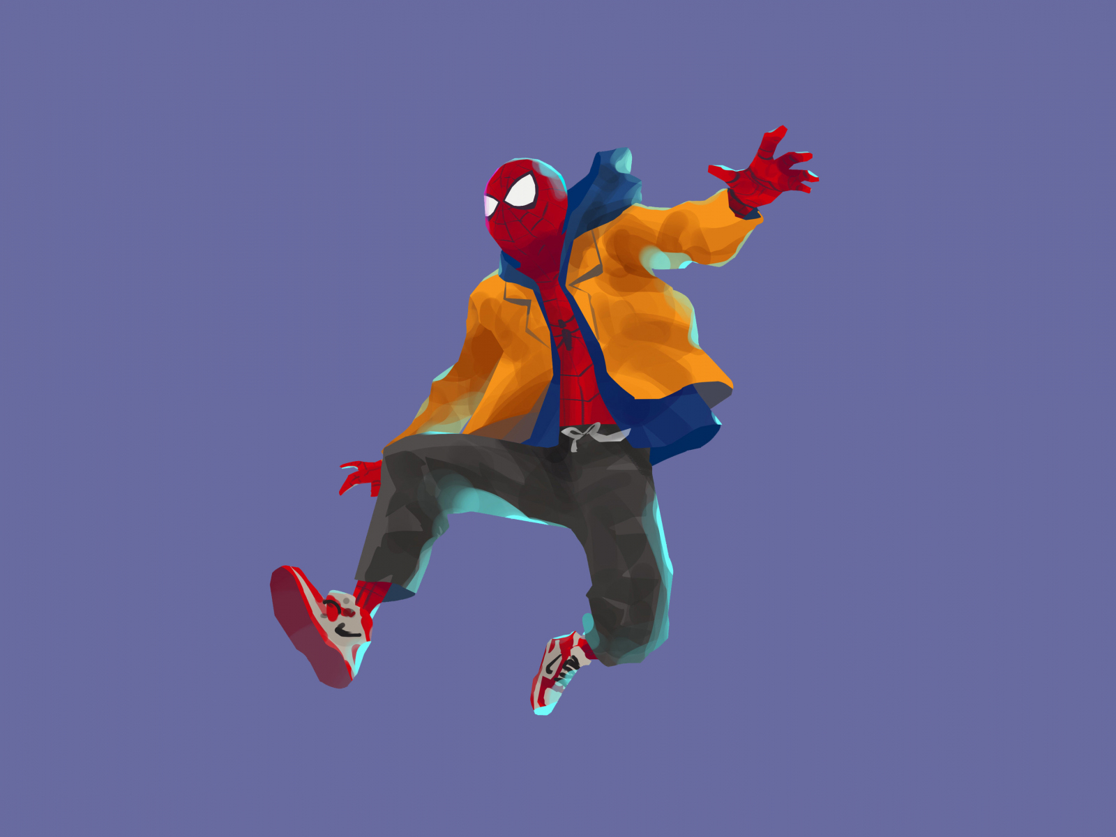 Download 1600x1200 wallpaper spider-man: into the spider ...