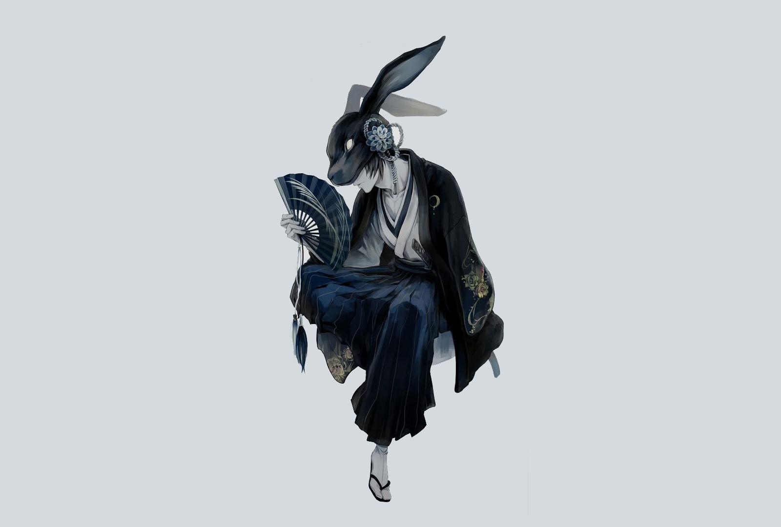 Download 1600x1200 wallpaper mask, warrior, anime boy ...