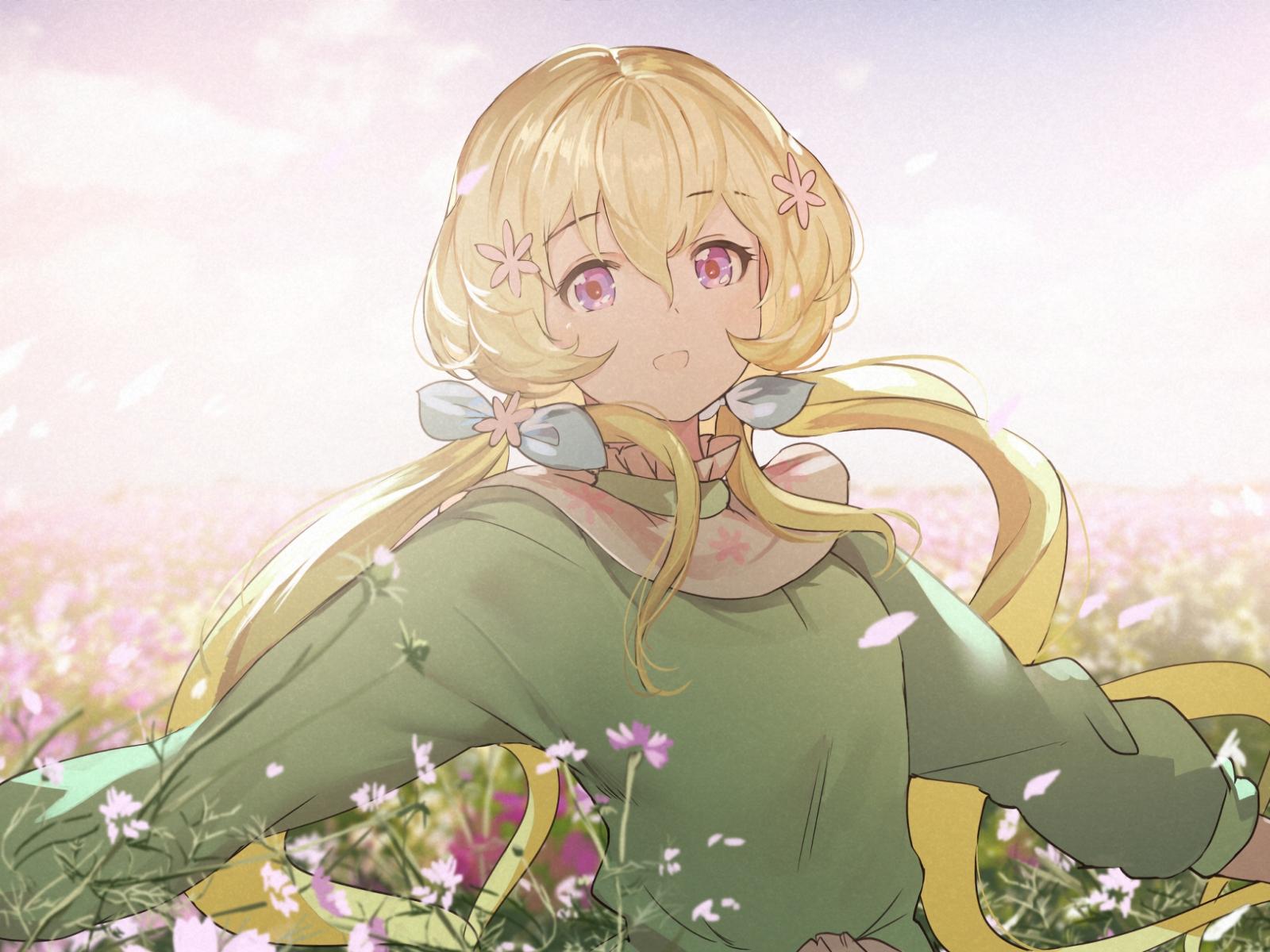 Download 1600x1200 wallpaper blonde anime girl aria - Anime 1600x1200 ...