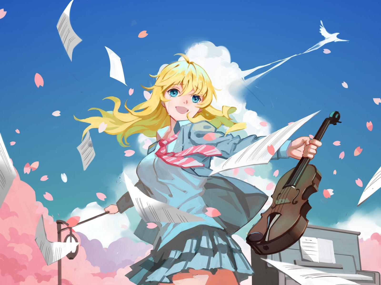 Download 1600x1200 Wallpaper Artwork Anime Girl Kaori