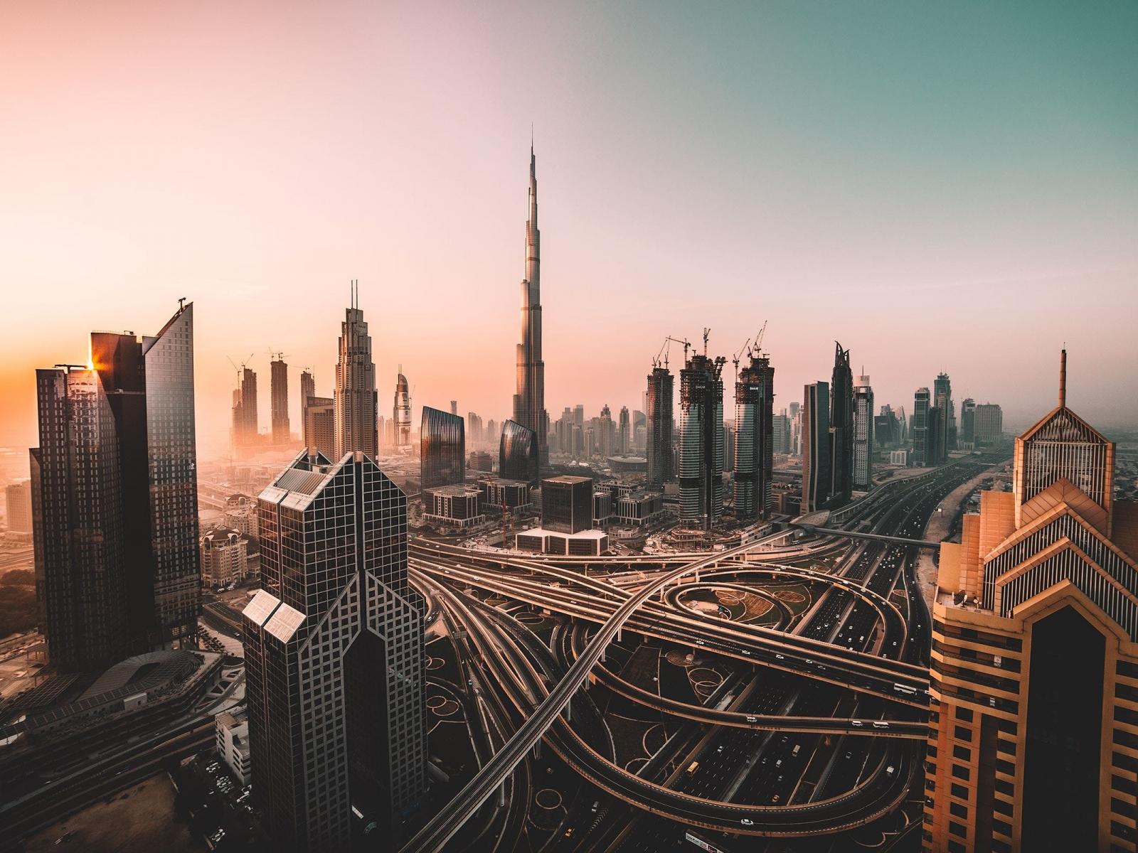 Dubai, skyline, cityscape, skyscrapers, buildings, Burj Khalifa, city, 1600x1200 wallpaper