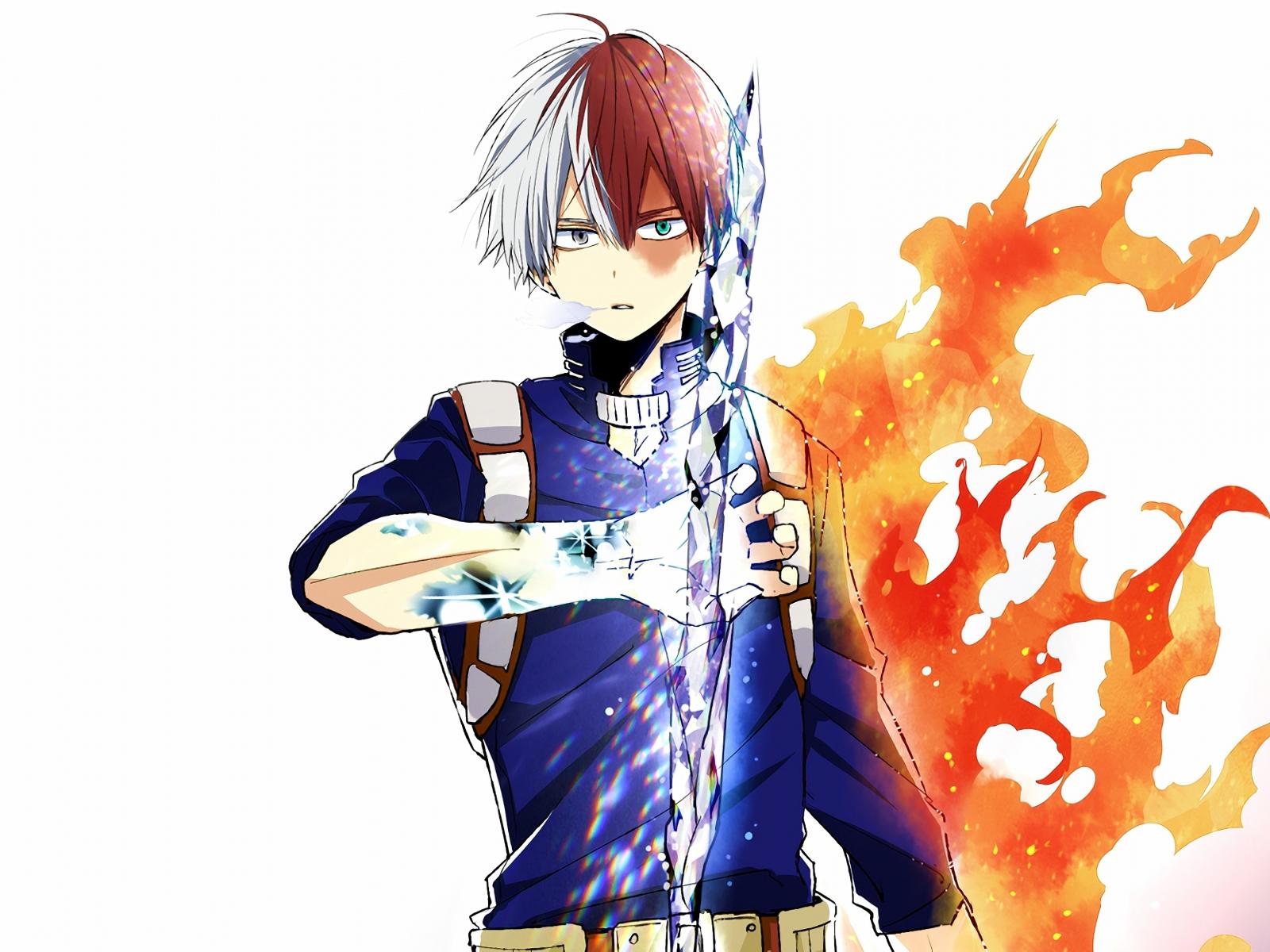Download 1600x1200 wallpaper anime shouto todoroki ice - Anime 1600x1200 ...