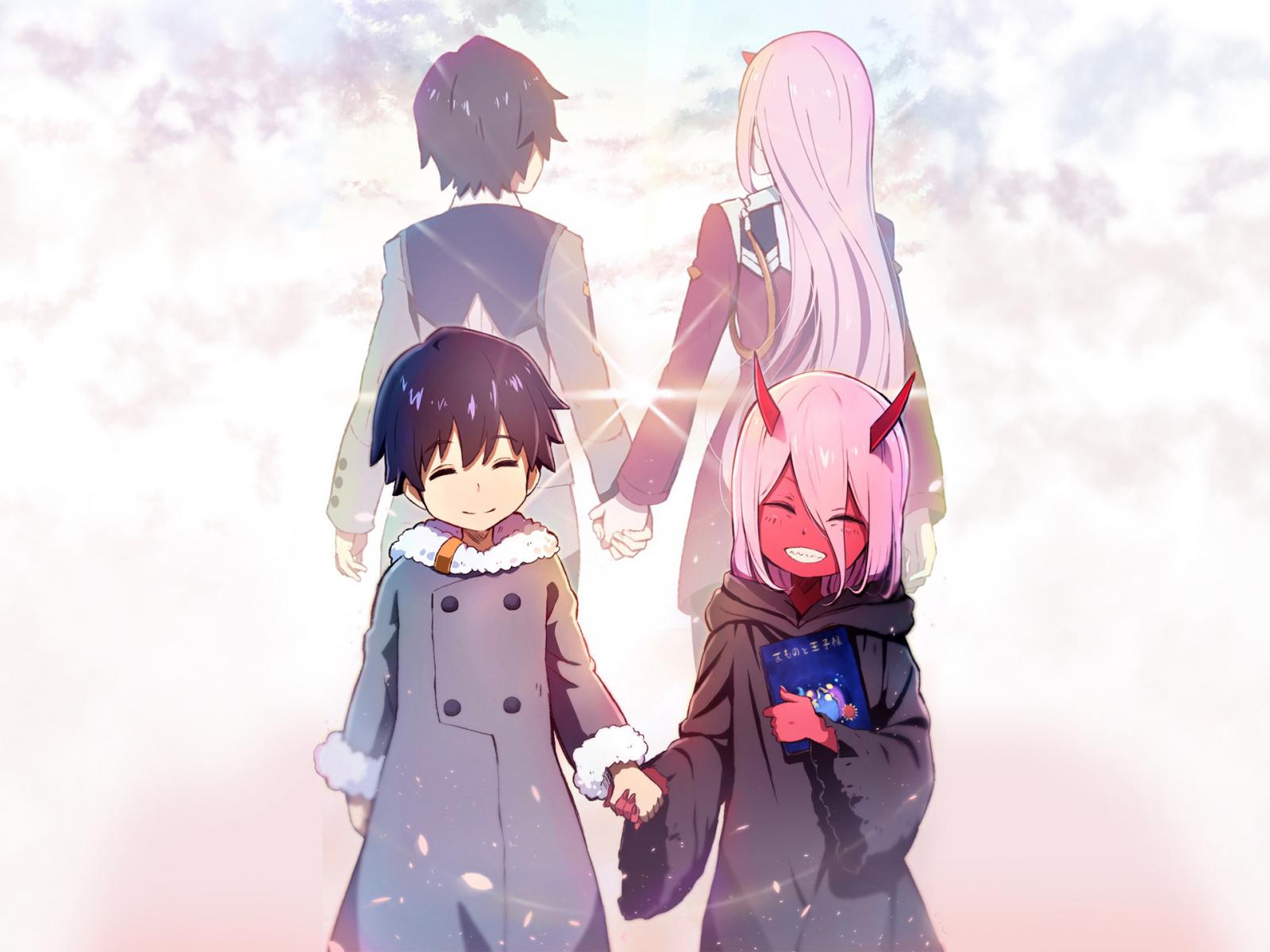 Download 1600x1200 wallpaper hiro and zero two anime - Anime 1600x1200 ...