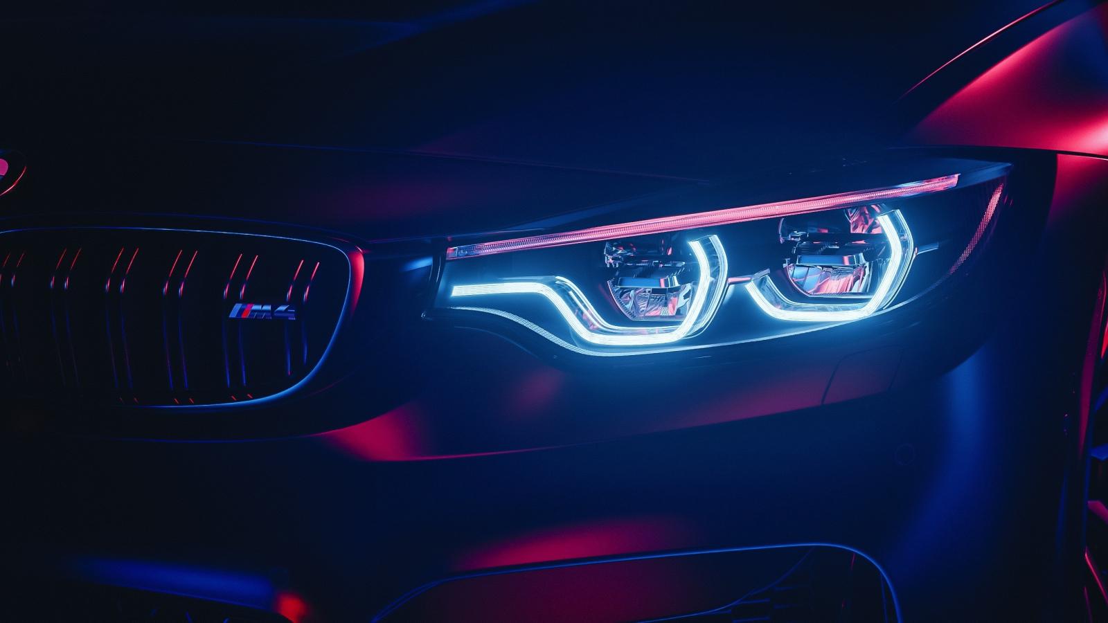 Download 1600x900 Wallpaper Bmw M4 Headlight Sports Car