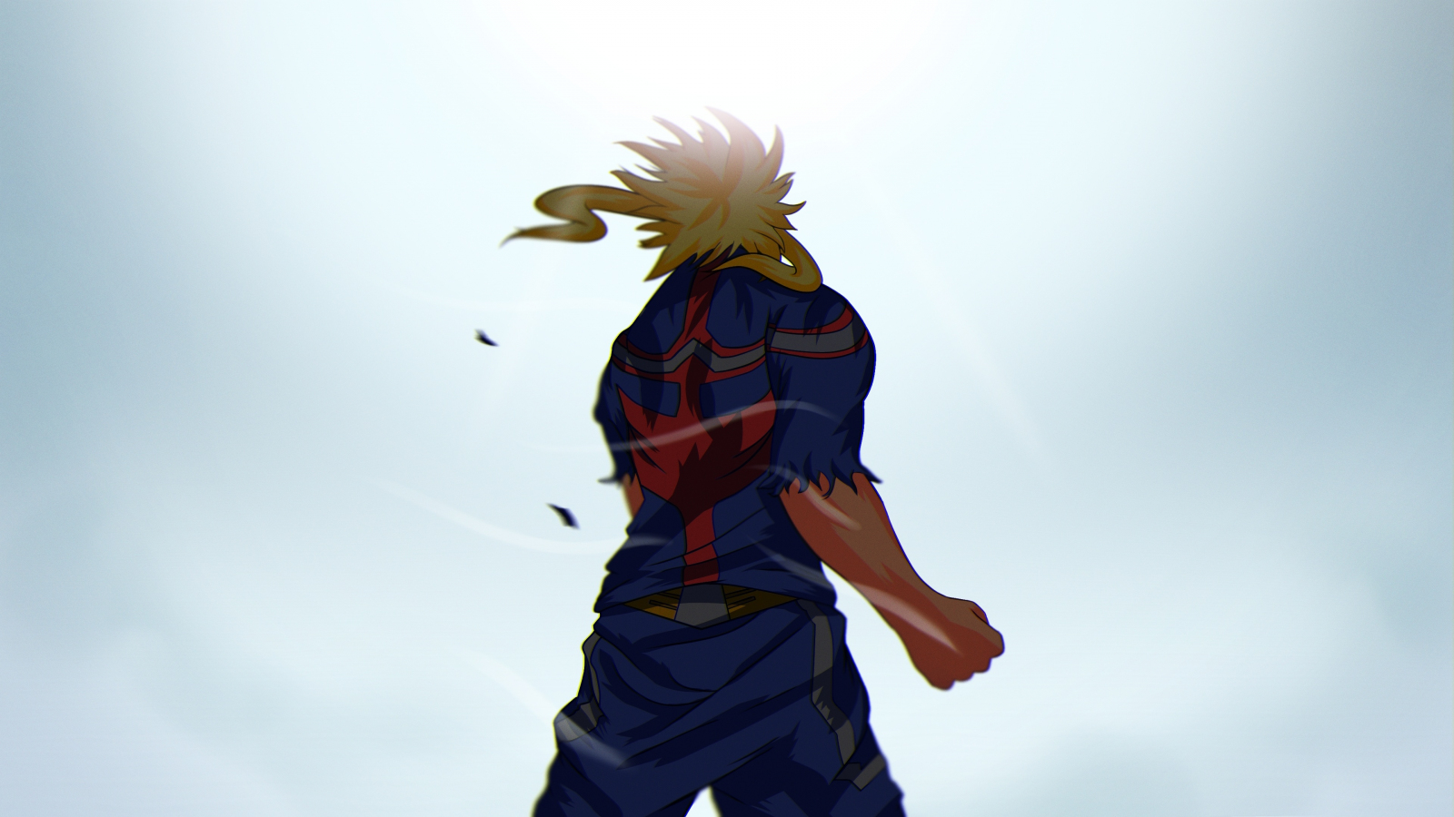 Download 1600x900 Wallpaper All Might My Hero Academia