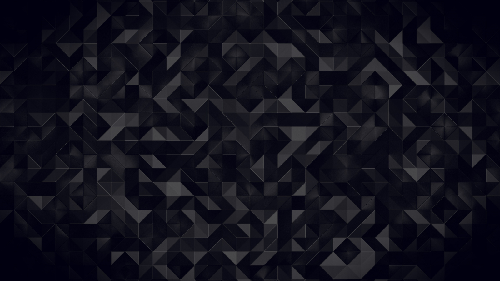 Download 1600x900 Wallpaper Dark Triangles Abstract Pattern