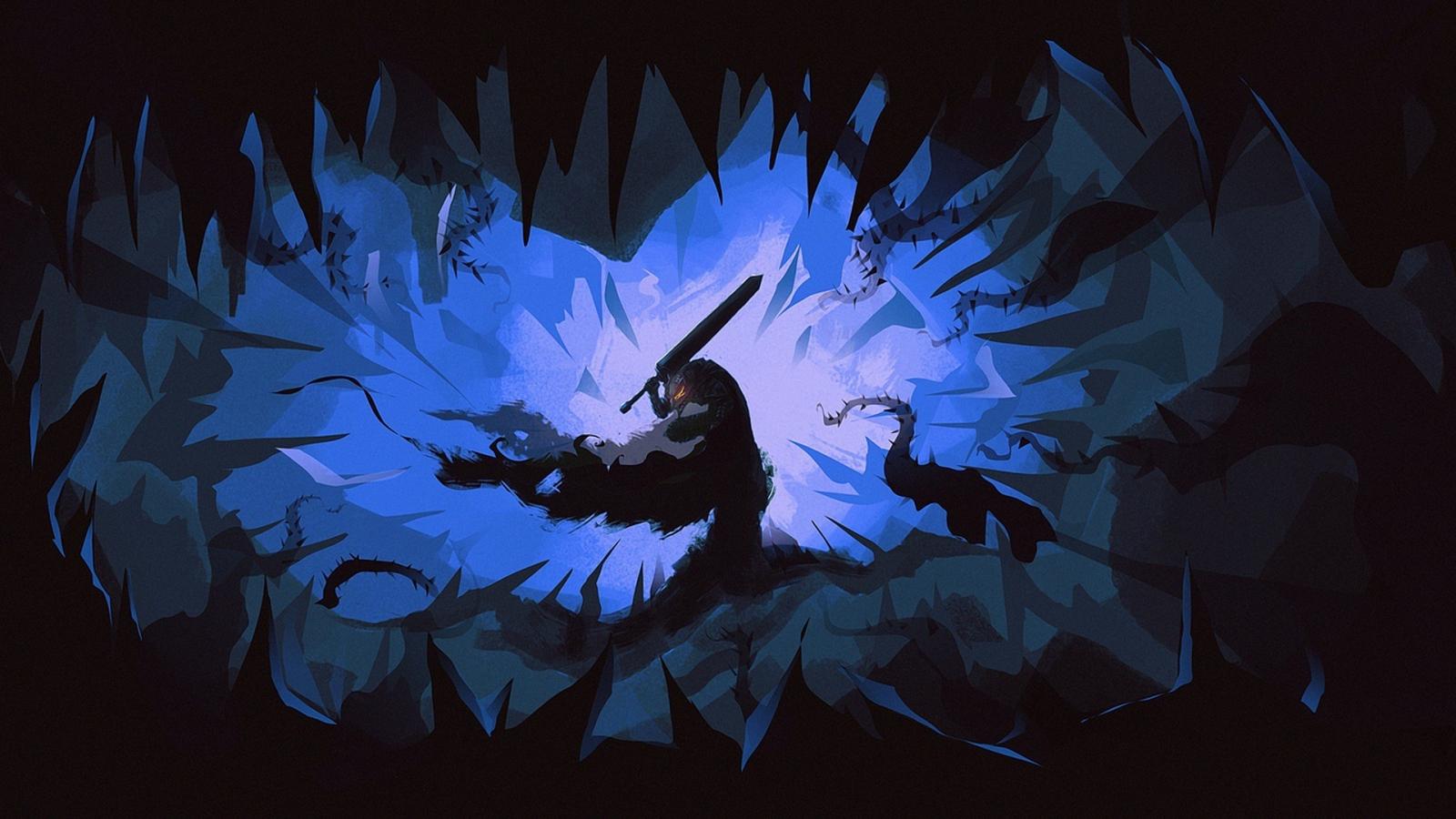 Download 1600x900 Wallpaper Berserk Manga Anime Dark