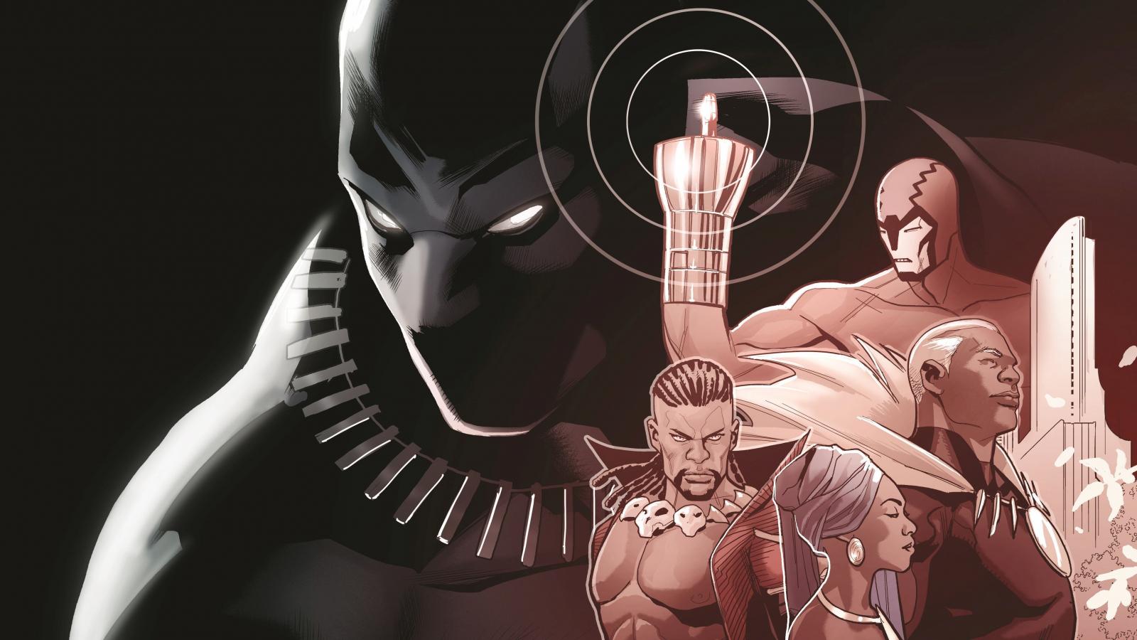 Black panther, superhero, comics, 1600x900 wallpaper