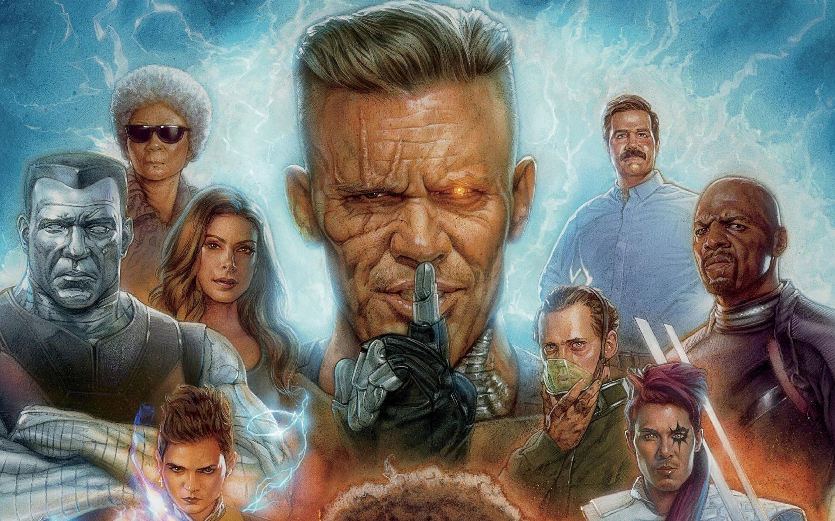 download 1680x1050 wallpaper deadpool 2, movie, cable, artwork