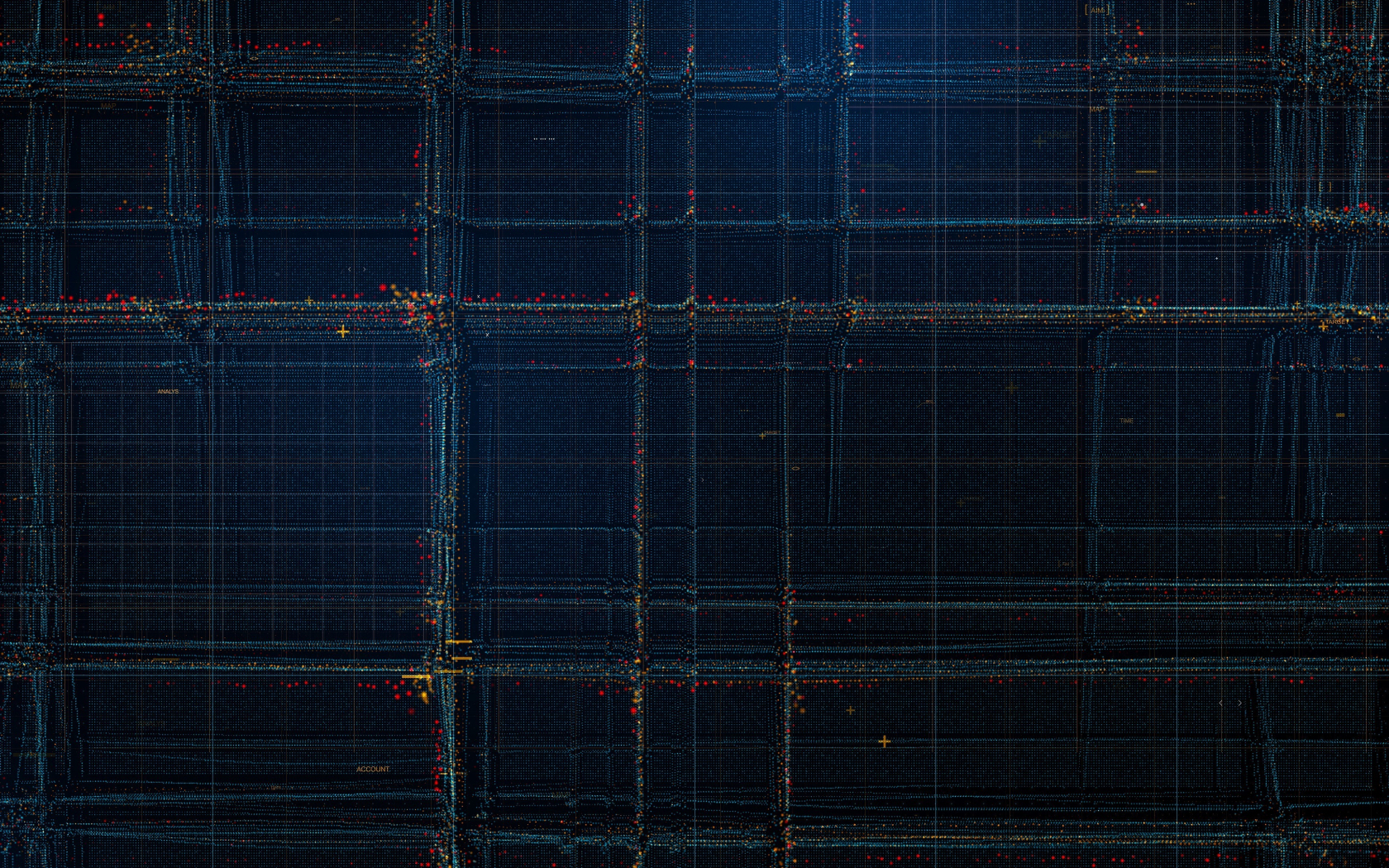 Particles, structure, lines, pattern, dark, 1680x1050 wallpaper