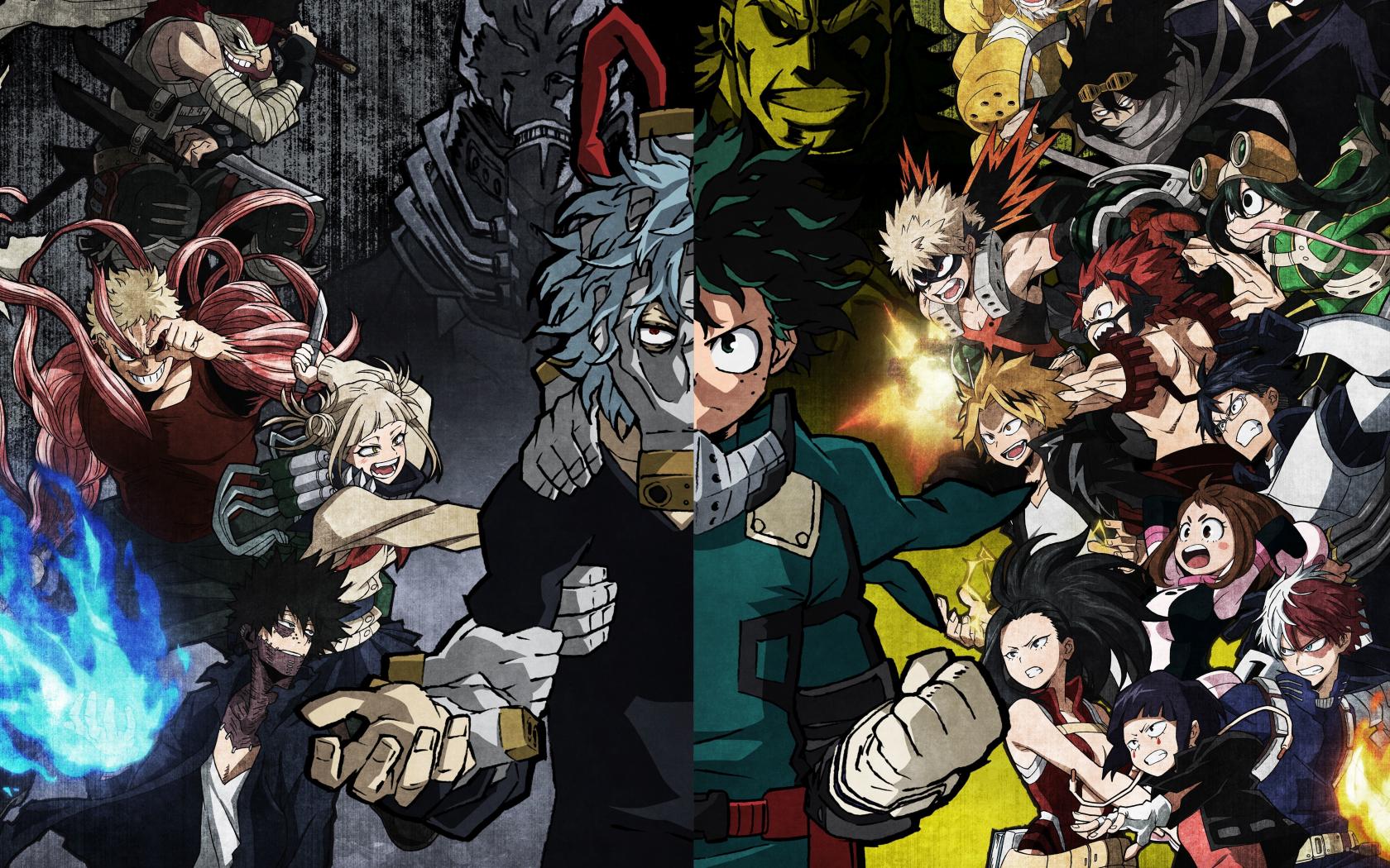 Download 1680x1050 Wallpaper My Hero Academia Izuku Face Off