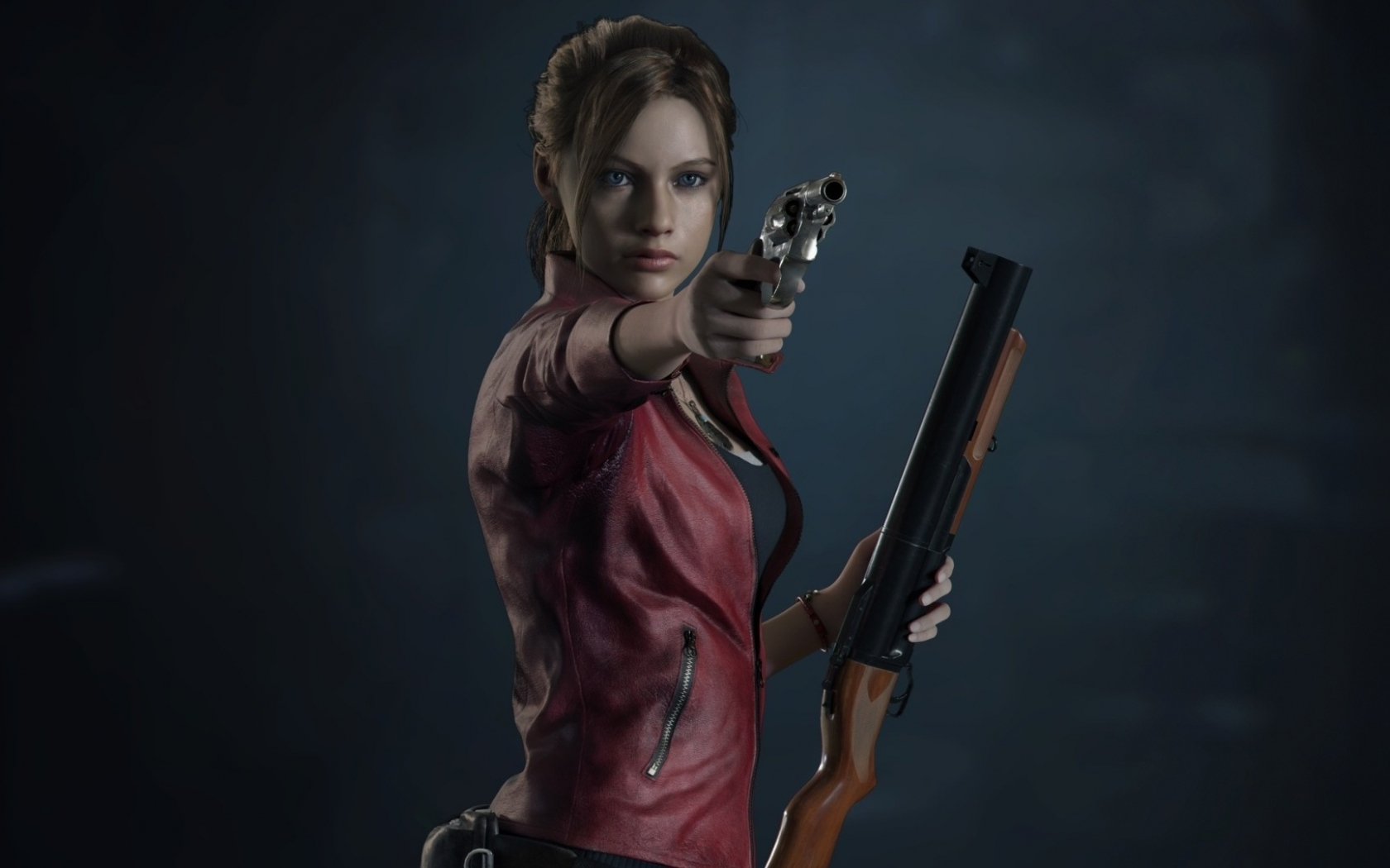 Resident Evil 2, video game, Claire Redfield, 1680x1050 wallpaper