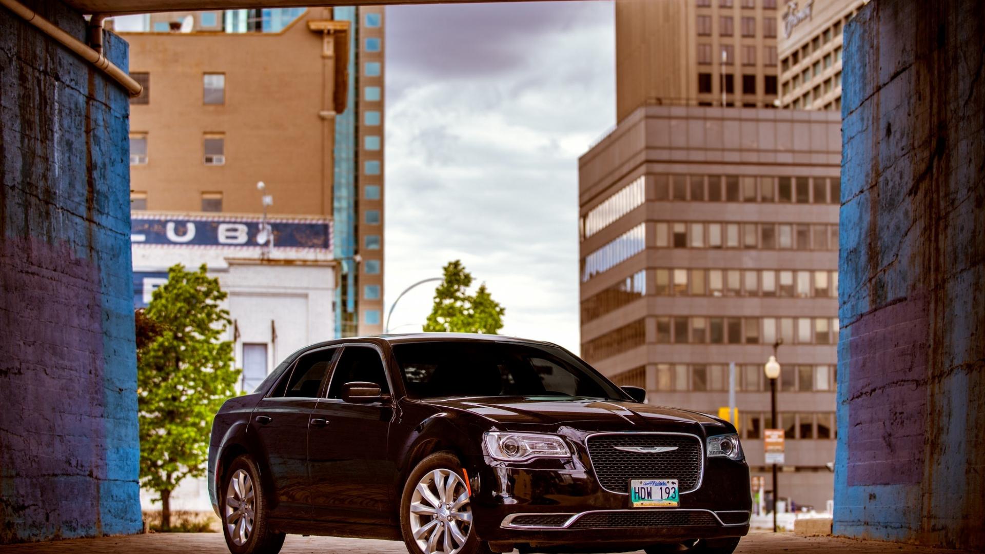 Download 1920x1080 Wallpaper 2018 Chrysler 300 Black Car Full Hd Hdtv Fhd 1080p 1920x1080 Hd Image Background 8731