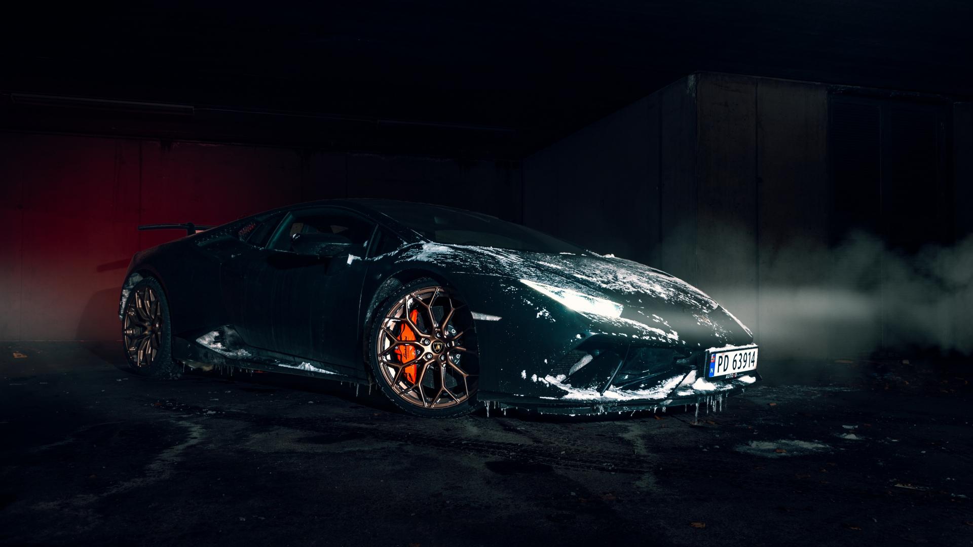 Download 1920x1080 Wallpaper Lamborghini Aventador Black
