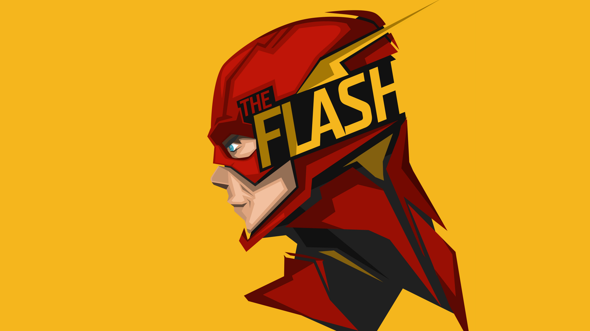 Download 1920x1080 Wallpaper The Flash Minimal Artwork Full Hd