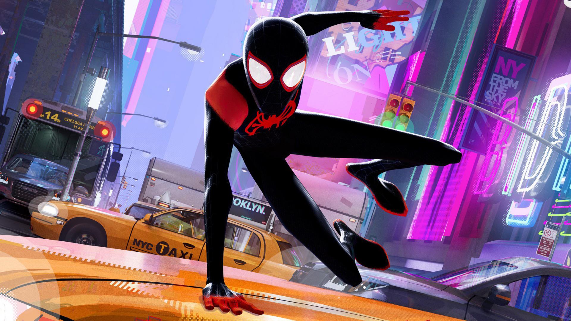 Download 1920x1080 Wallpaper Spider Man Into The Spider Verse