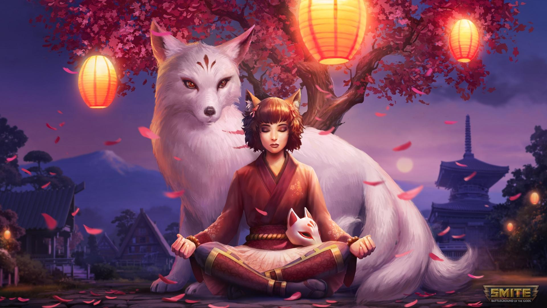 Download 1920x1080 Wallpaper Elf Girl Smite Video Game Meditation Full Hd Hdtv Fhd 1080p 1920x1080 Hd Image Background 22390