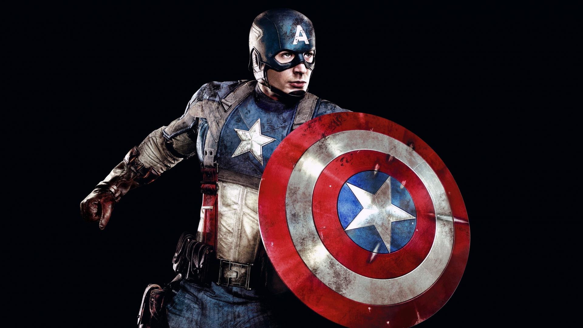 Download 1920x1080 Wallpaper Captain America Superhero Marvel