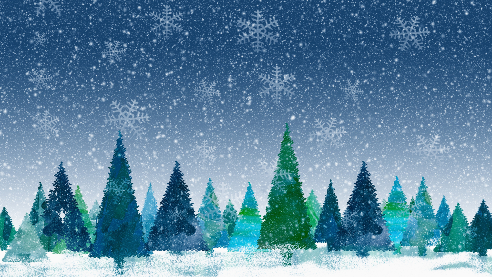 Download 1920x1080 wallpaper christmas, decorations, trees ...