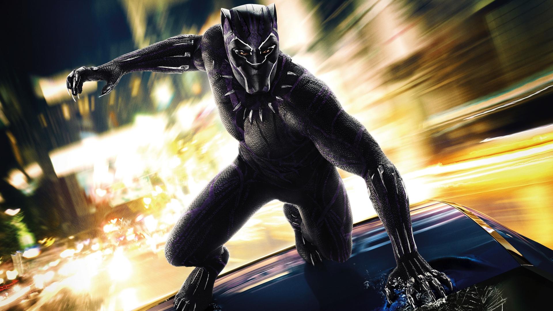 Download 1920x1080 wallpaper black panther, 2018 movie ...