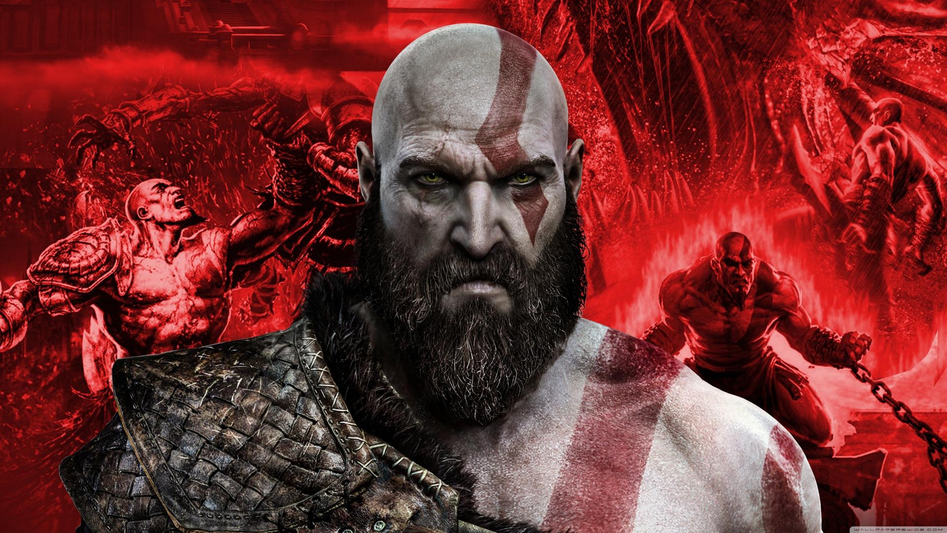 Download 1920x1080 Wallpaper Kratos Artwork God Of War Full Hd
