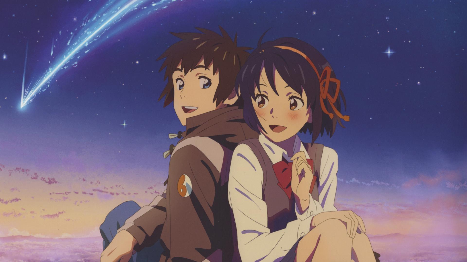 Download 1920x1080 wallpaper cute couple, mitsuha miyamizu ...