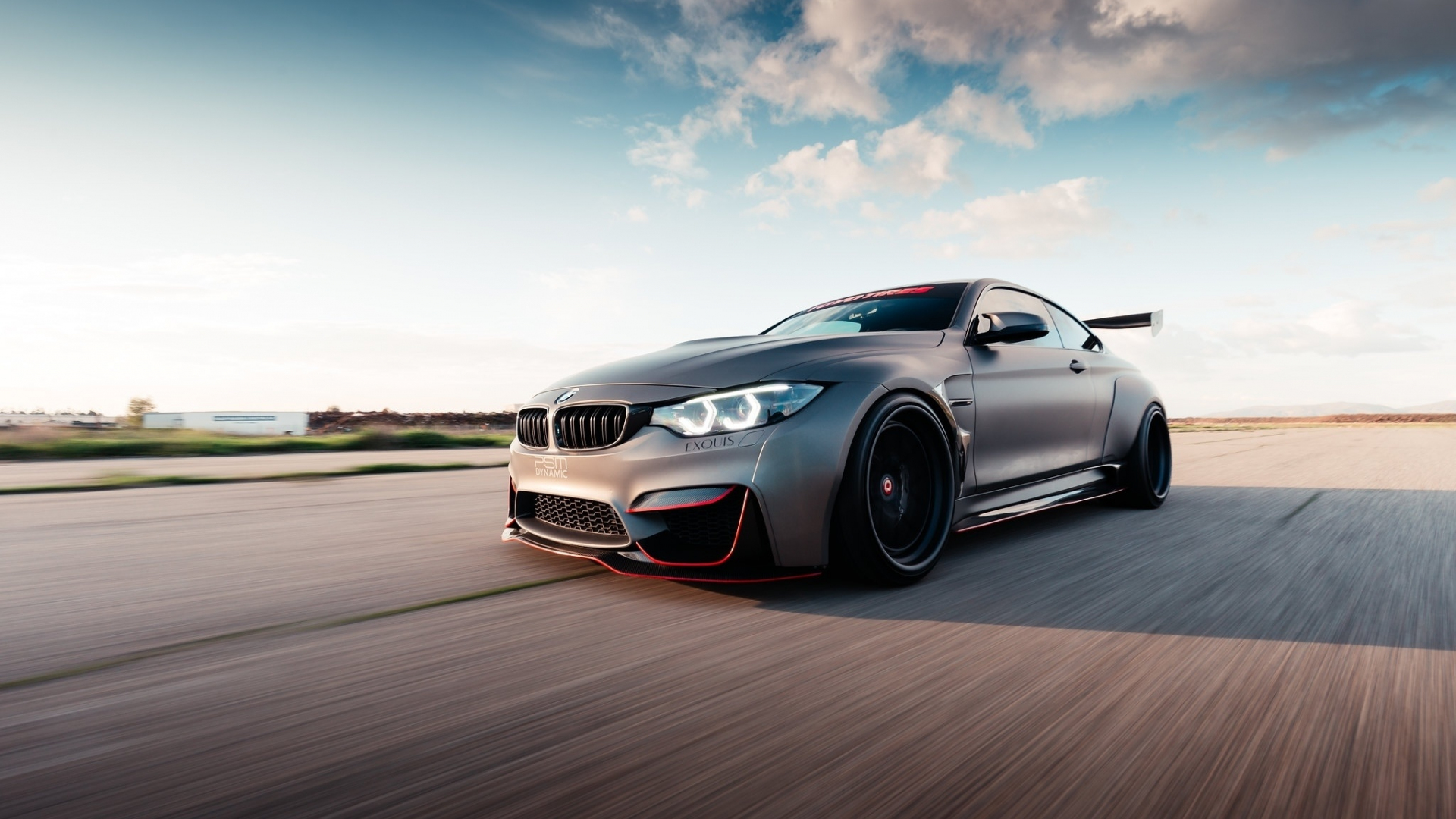 Download 1920x1080 wallpaper bmw m4, on-road, luxurious ...