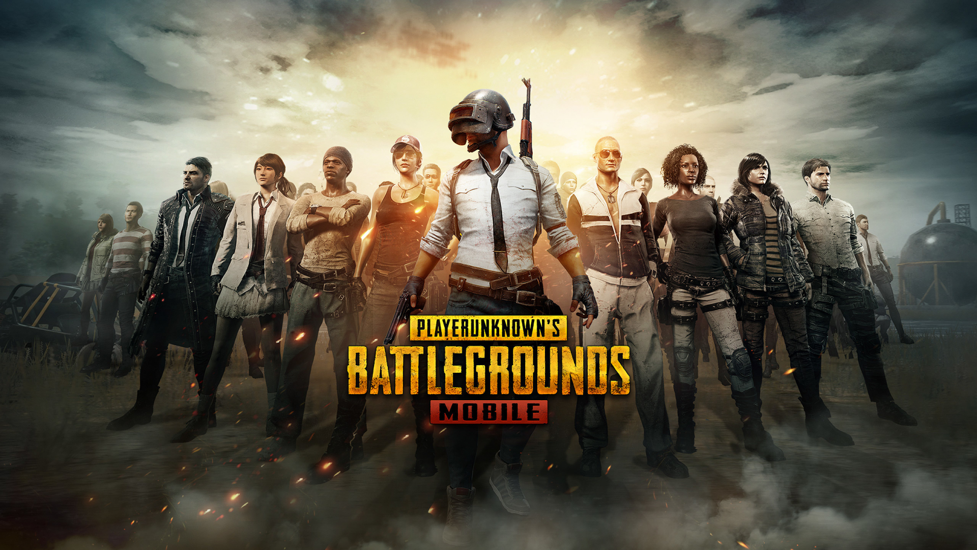 PUBG Mobile, Android Game, Characters, 1920x1080 Wallpaper
