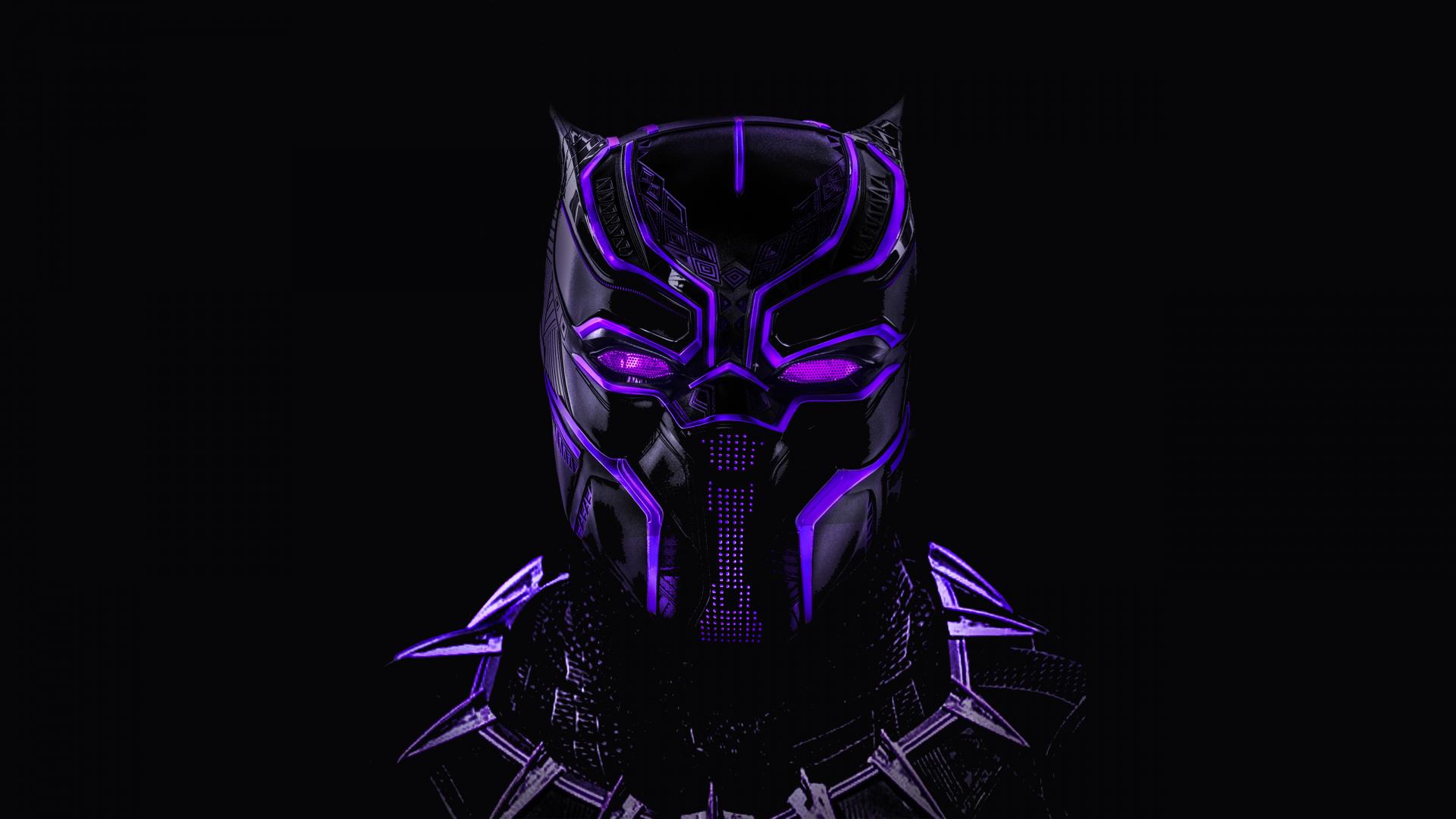Download 1920x1080 wallpaper black panther, superhero ...