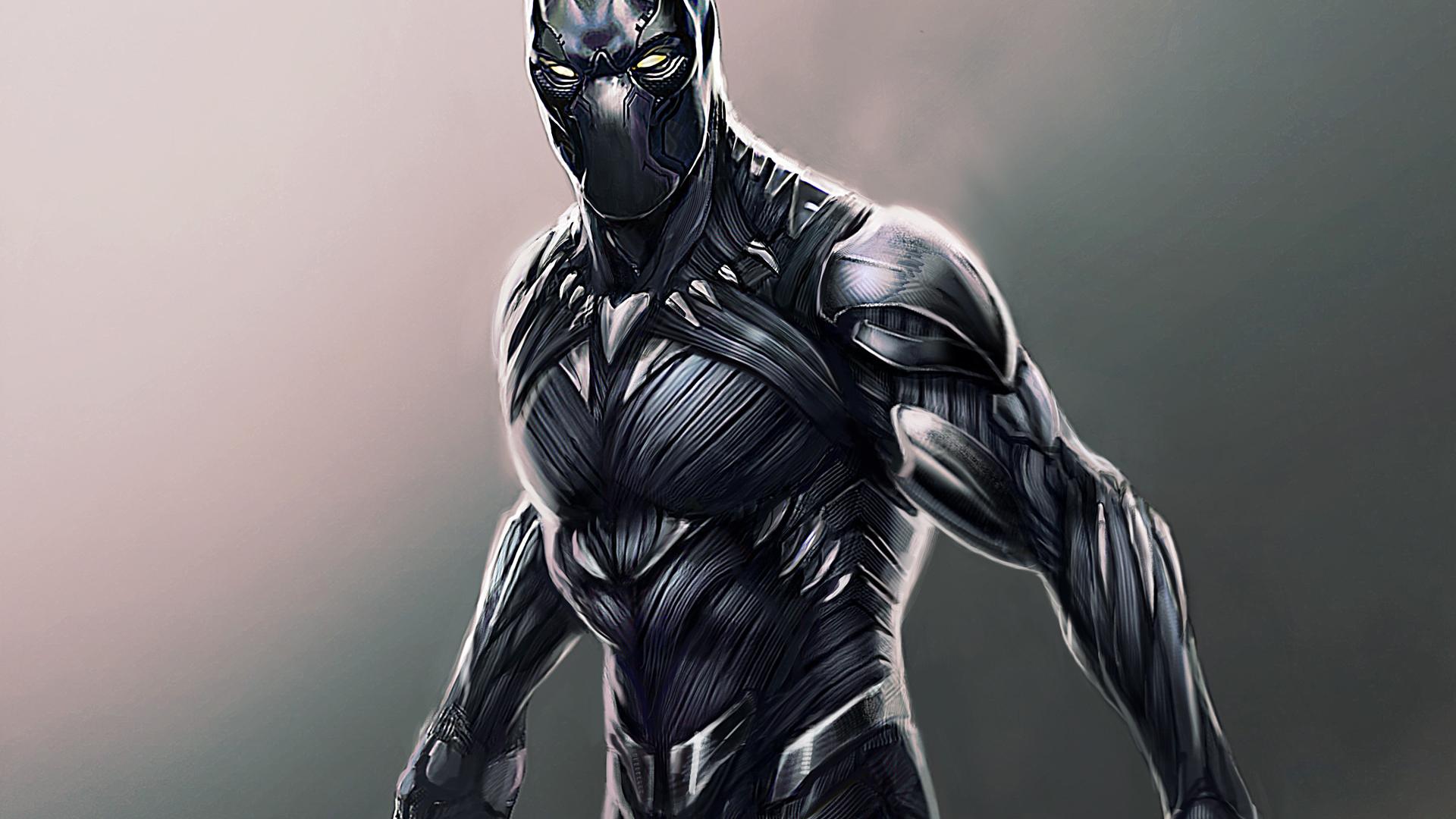 Download 1920x1080 Wallpaper Black Panther Superhero Fan Made Digital Artwork Full Hd Hdtv Fhd 1080p 1920x1080 Hd Image Background 2477