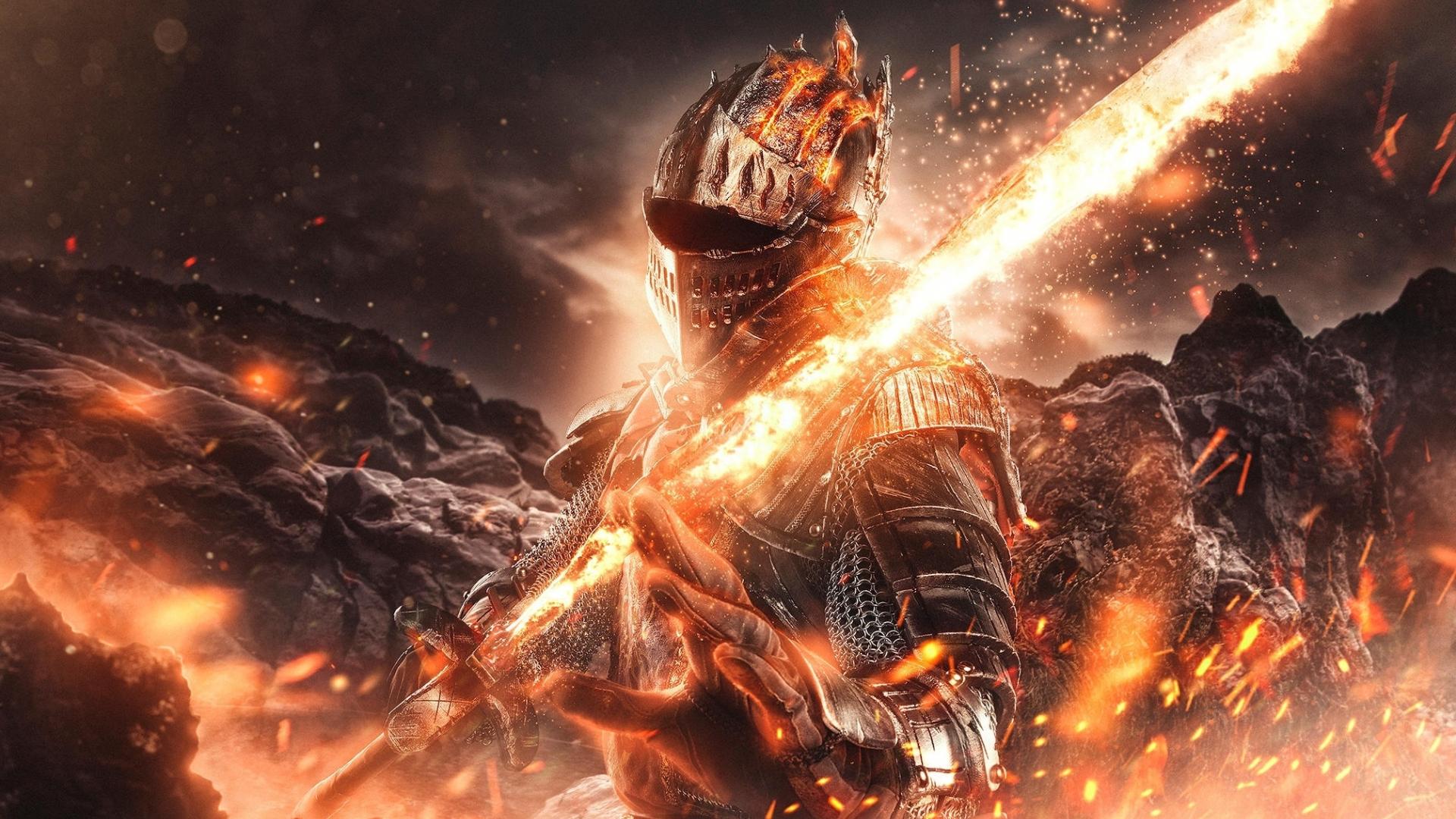 Download 1920x1080 Wallpaper Fire And Sword Dark Souls Video