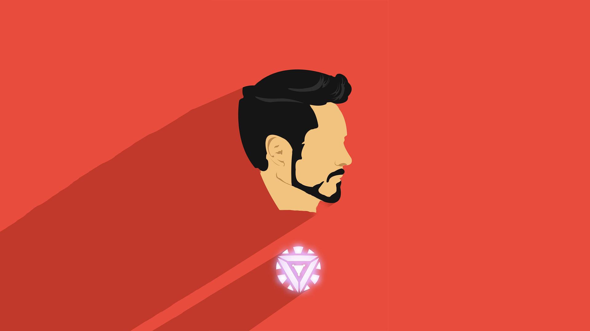 Download 1920x1080 wallpaper iron man artwork minimal - Iron man cartoon download ...