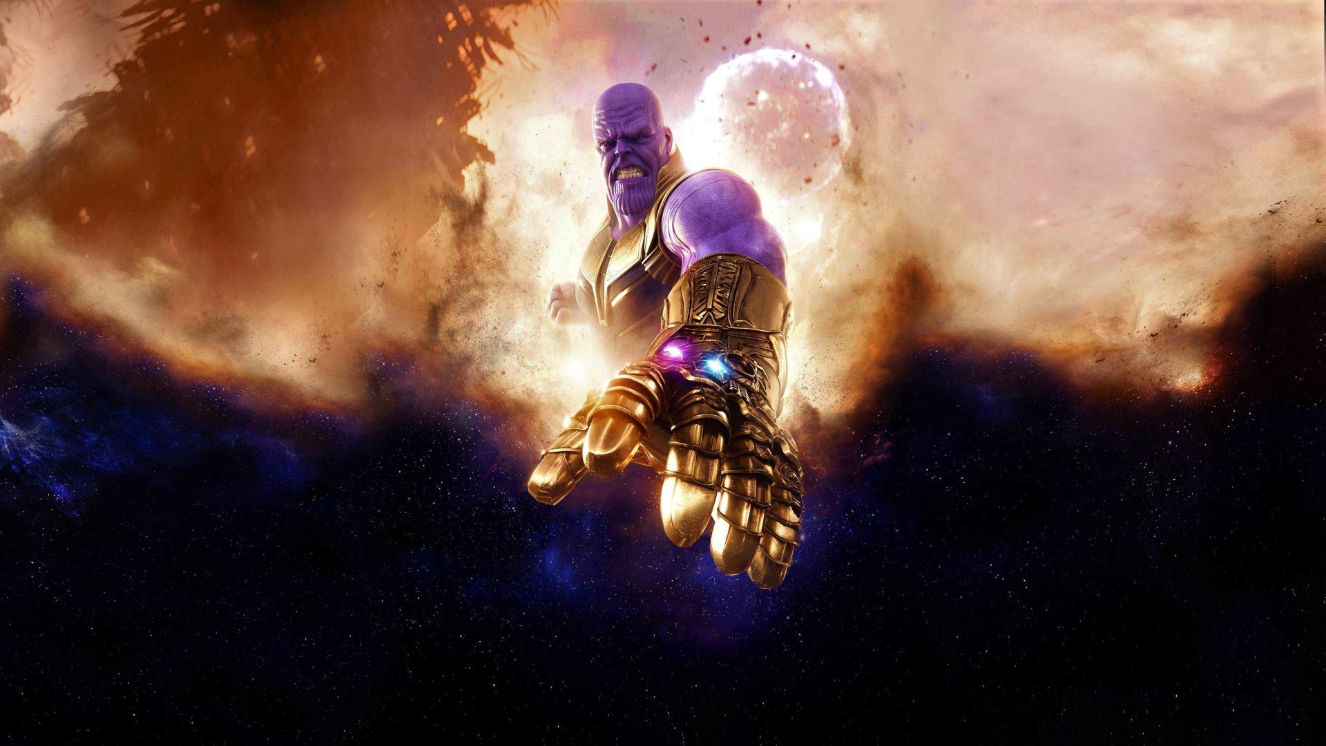 Thanos Clouds Avengers Infinity War Villain Artwork X Wallpaper