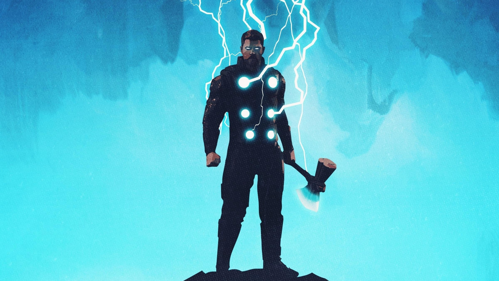 Download 1920x1080 wallpaper thor artwork lightning god full hd hdtv fhd 1080p 1920x1080 - 1366x768 is 720p or 1080p ...