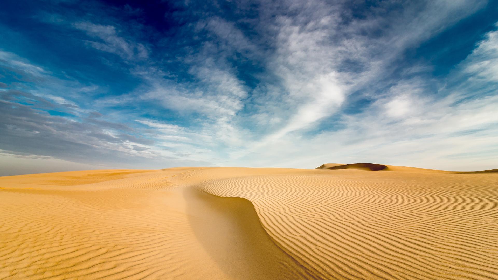 Download 1920x1080 wallpaper desert sand, dunes, landscape ...