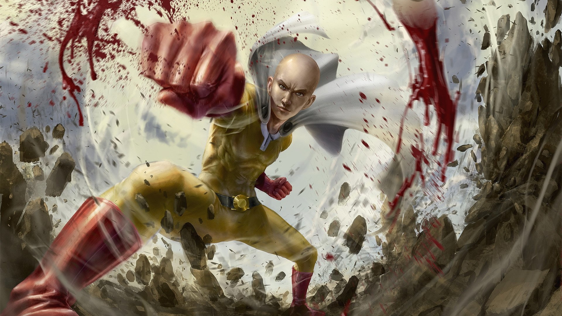 Download 1920x1080 Wallpaper Saitama One Punch Man Anime Boy