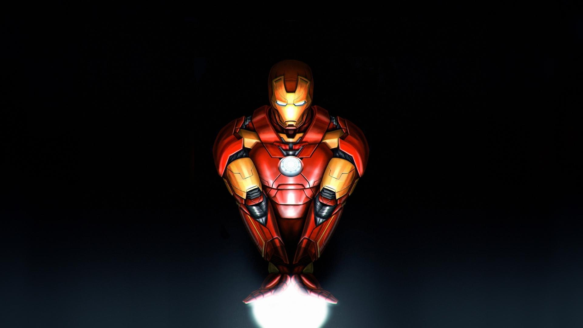 Download 1920x1080 Wallpaper Iron Man Old Suit Artwork