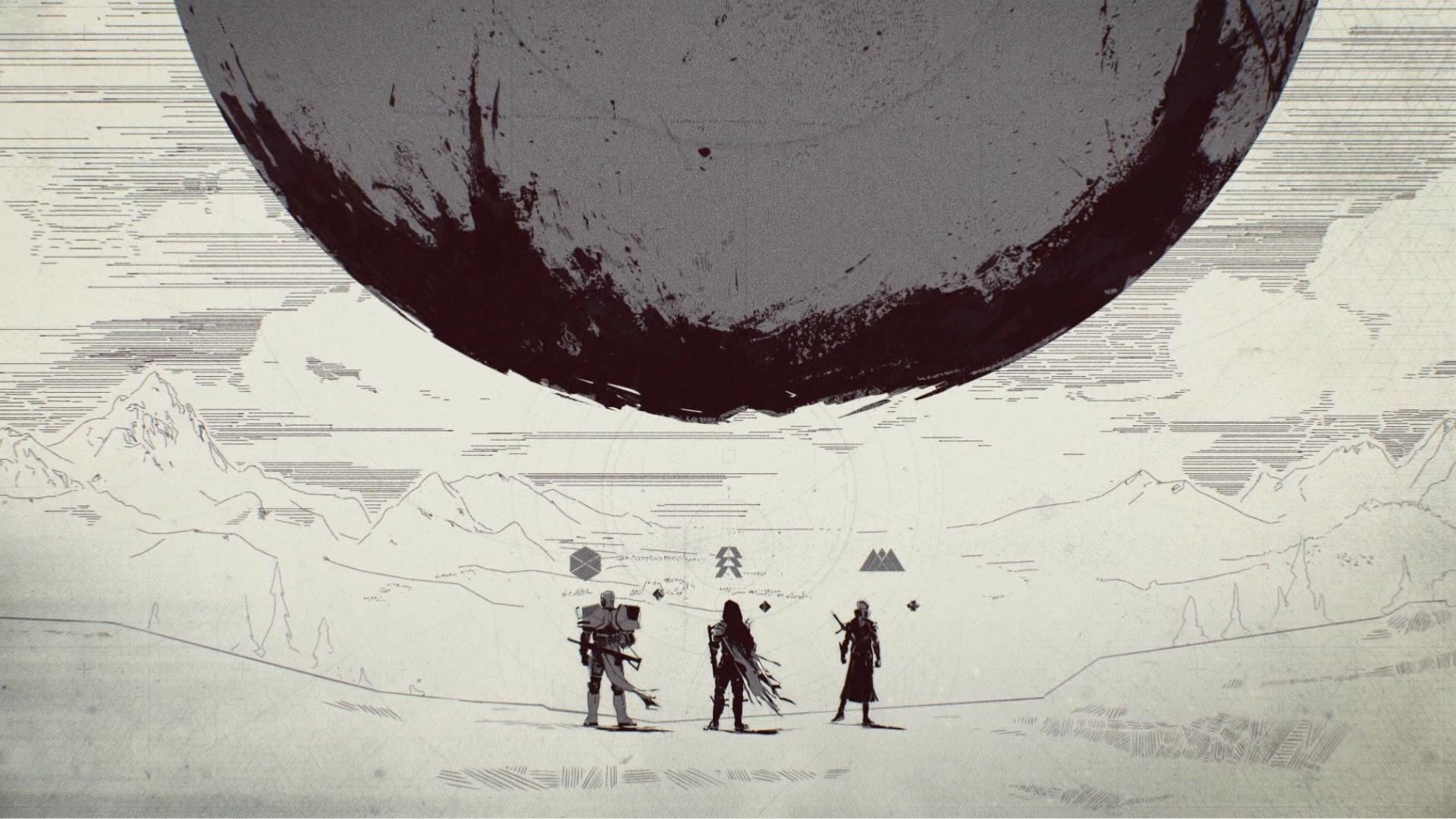 Download 1920x1080 Wallpaper Warriors Minimal Planet Destiny 2