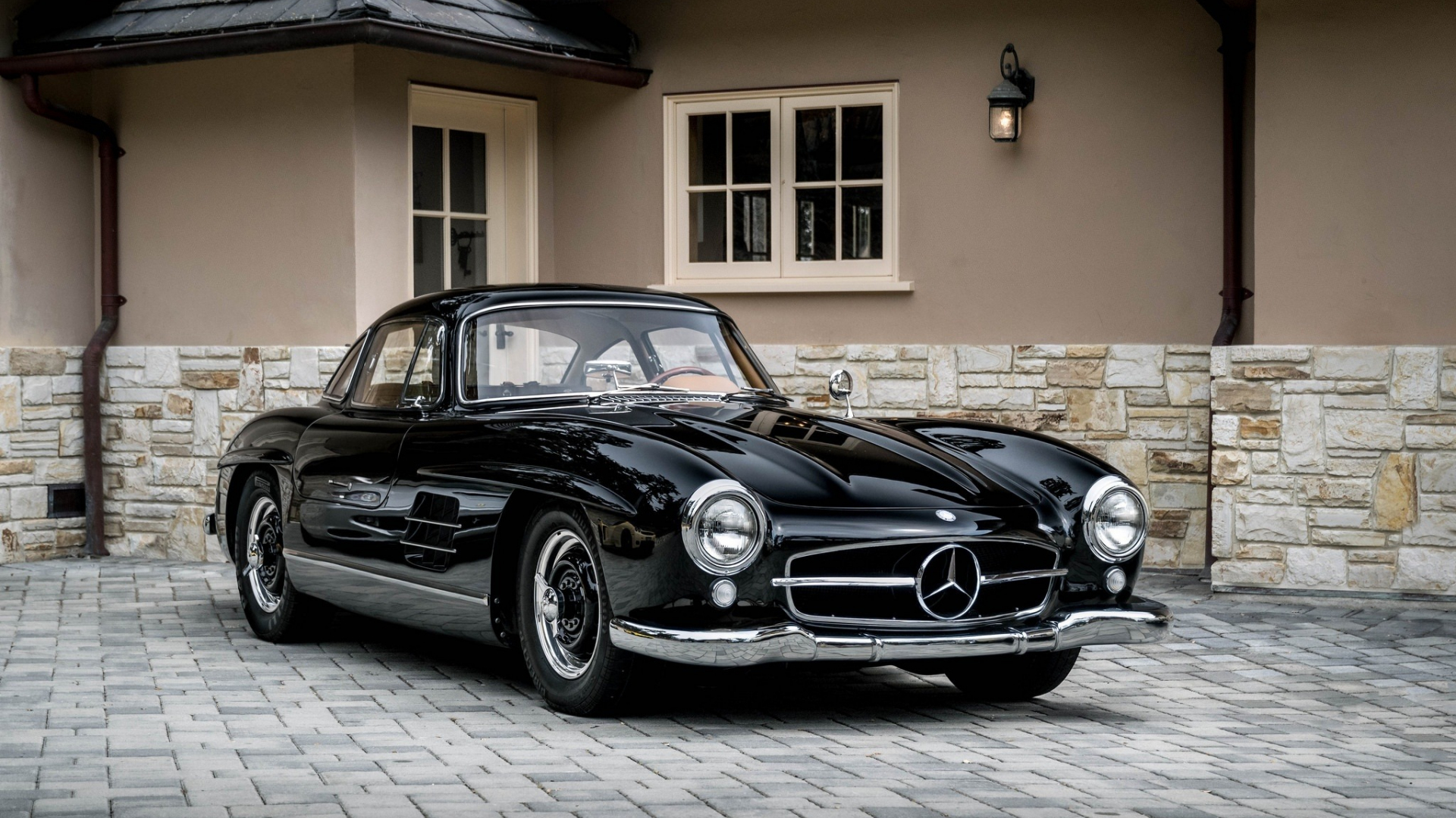 Download 1920x1080 Wallpaper Black Classic Mercedes Benz