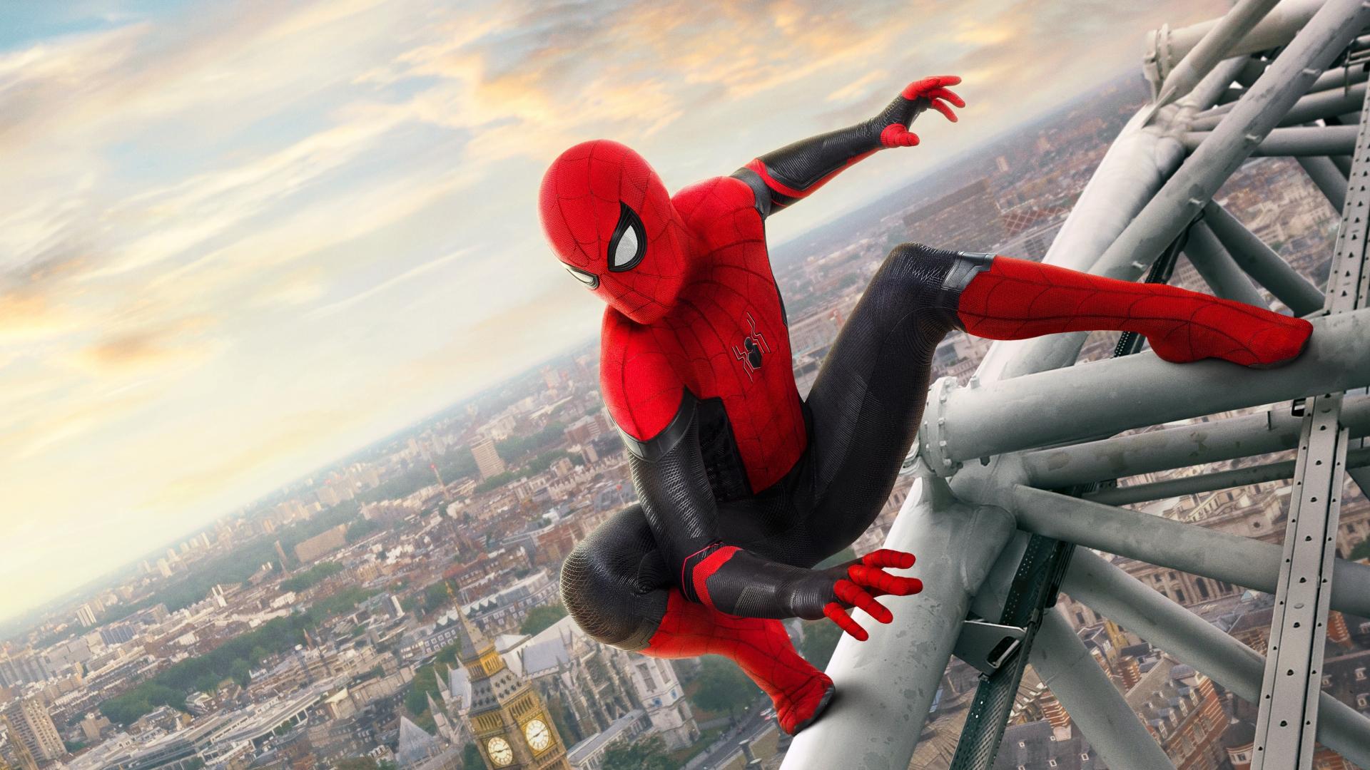 Download 1920x1080 wallpaper spider-man, movie 2019, far ...