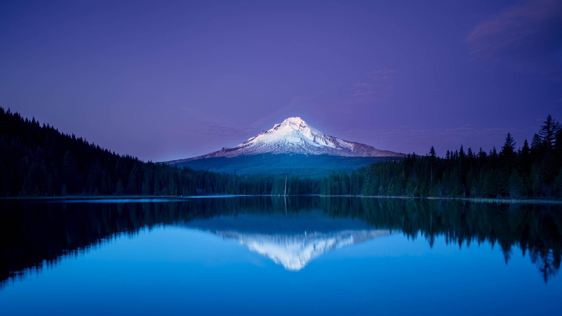 природа горы озеро небо деревья анонимно