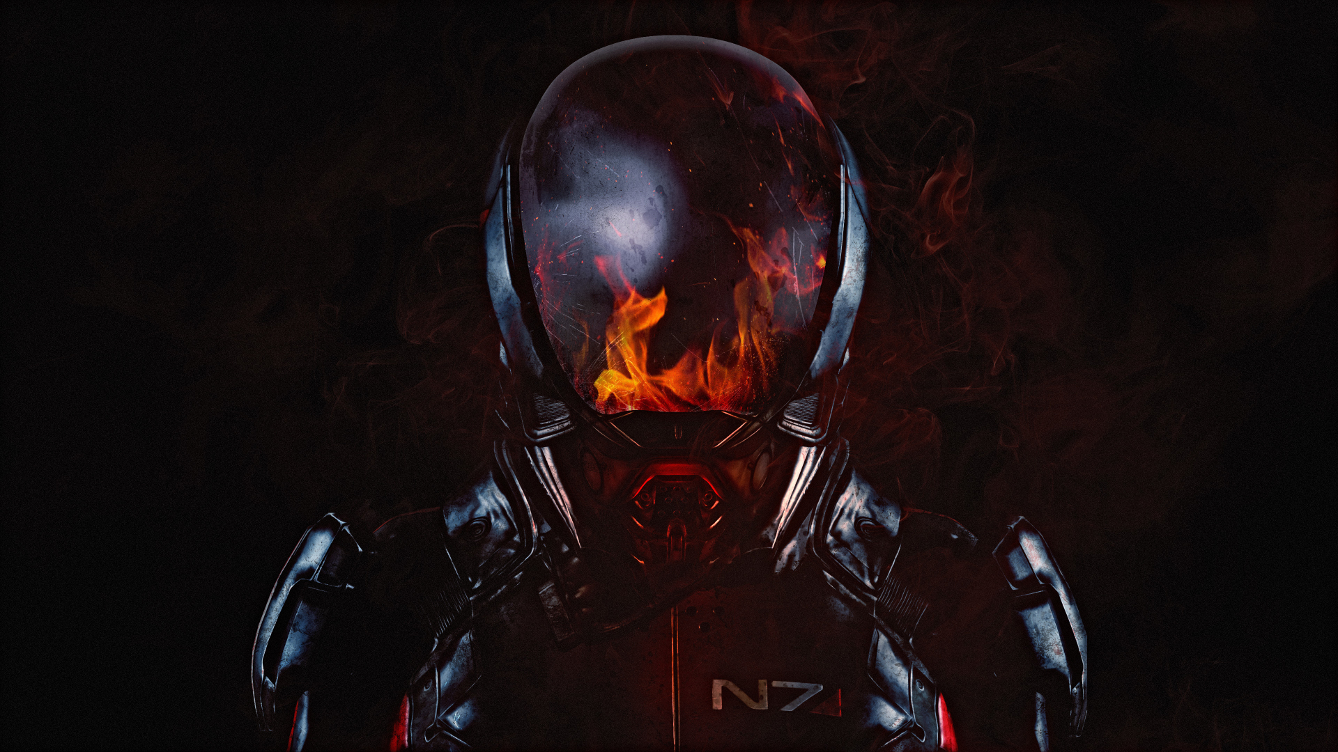 Download 1920x1080 Wallpaper Mass Effect Andromeda N7 Soldier