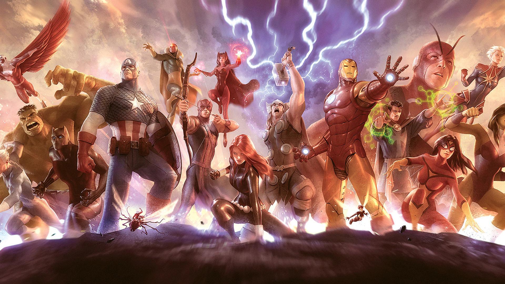 Download 1920x1080 wallpaper avengers, superhero, artwork ...