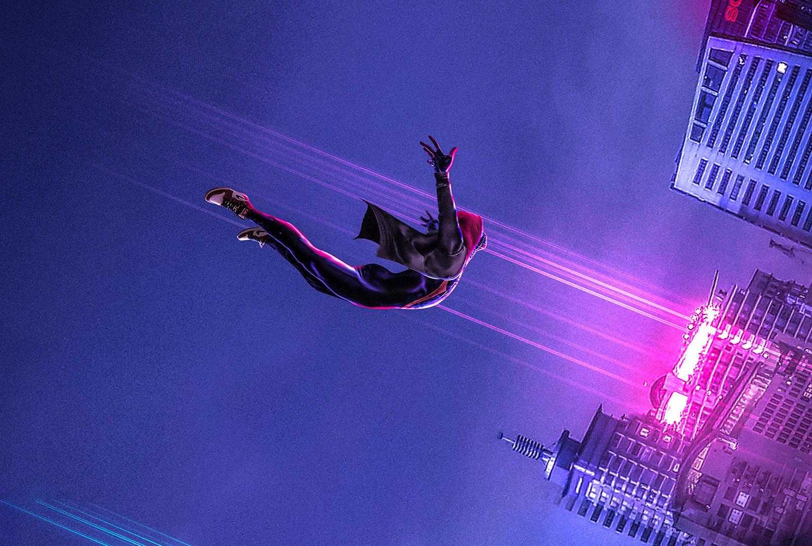 Download 1920x1080 wallpaper spider dive, movie, artwork ...