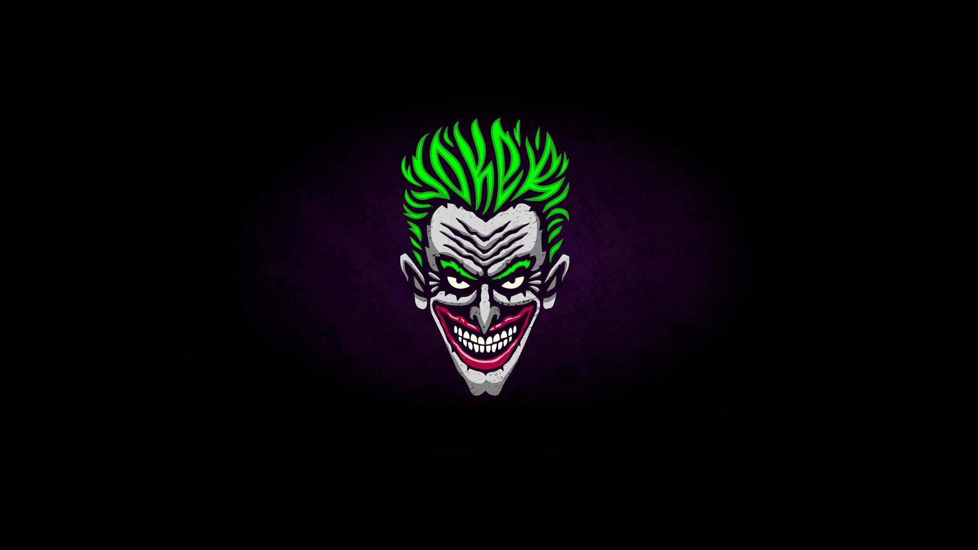 Download 1920x1080 Wallpaper Joker Face Green Hair